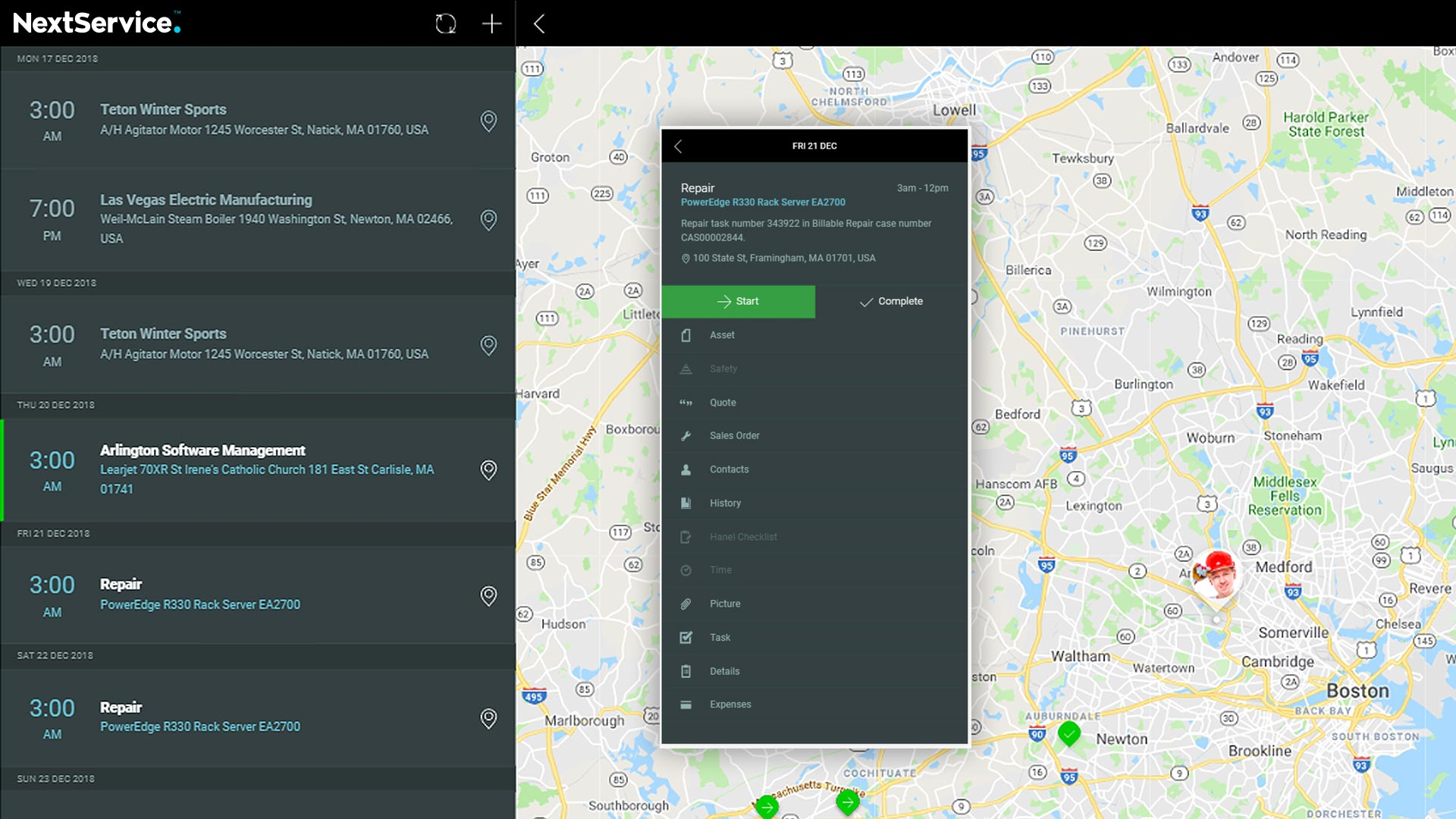 NextService App for tablets and mobile devices enables the technician for better customer service.