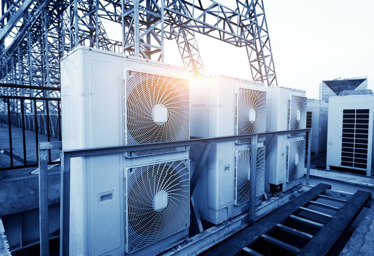 HVAC Field Service Business Management Software - Air Conditioning Units on Roof