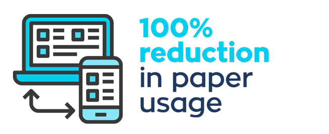 100% Reduction in Paper Usage